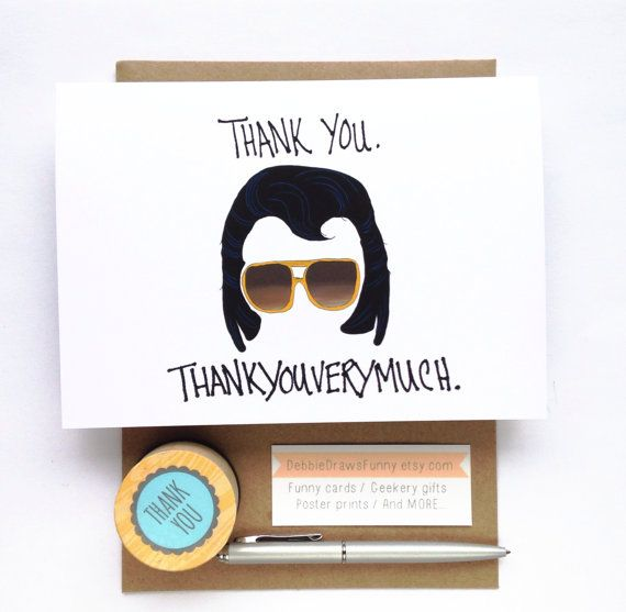 Funny Thank You Card Thank you by DebbieDrawsFunny on Etsy