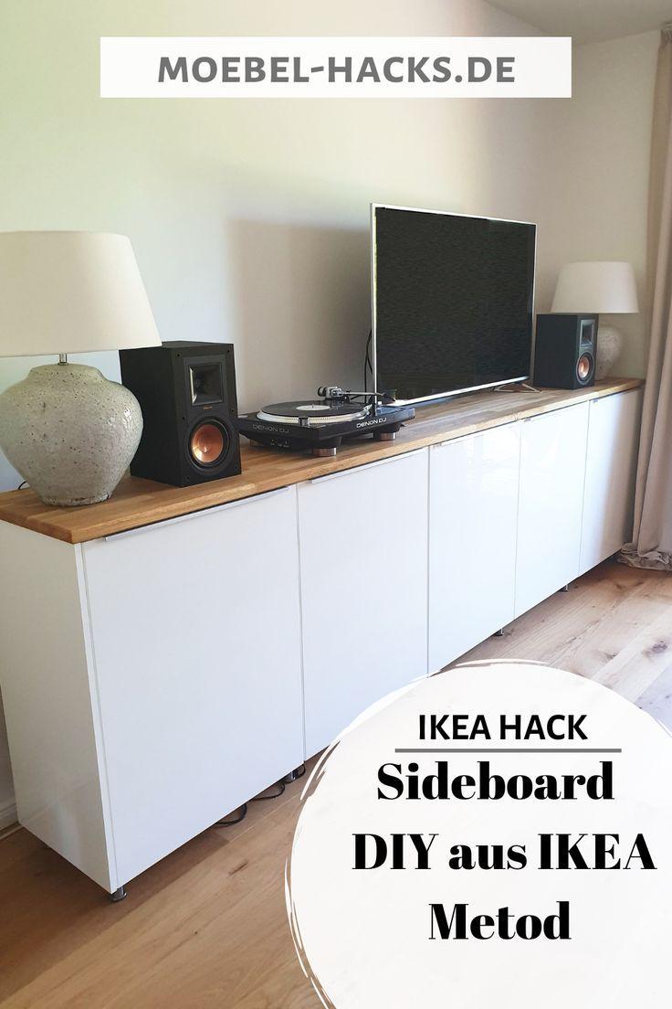 Dieses Sideboard Kann Als Fernsehschrank Plattenschrank Im Arbeitszimmer Fur Schuhe Im Flur Und Noch So Vi Ikea Hack Wohnzimmer Diy Sideboard Ikea Sideboard