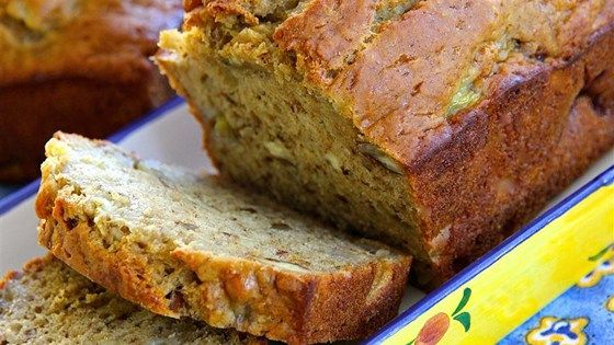 Low Fat Banana Bread- Applesauce, not fat, provides the moisture in this tender banana bread.