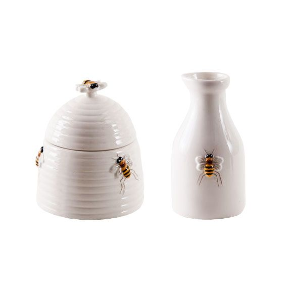 Honey Bee Sugar Bowl U0026 Cream Jar | Dotandbo.com