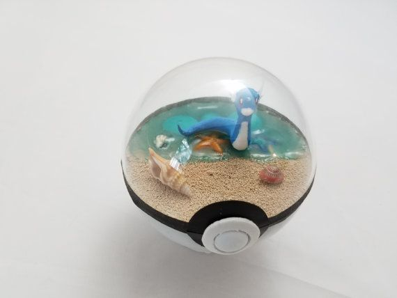 Pokemon Pokeball Terrarium (Diorama), Beach Theme (3 Inch Diameter)