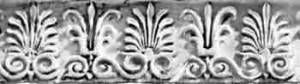 ANTHEMION MOTIF, from the Greek word for flower, is a combination honeysuckle, lotus, acanthus, or palmette decorative motif inscribed on achitecture, friezes, and later on furniture and silverware. Originally found in ancient Greece, the anthemion motif appeared in the 18th and 19th Centuries throughout western civilization.
