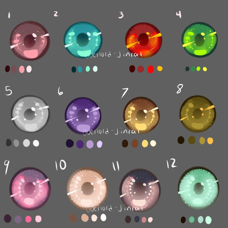 Eye Swatches by Overlord-Jinral.deviantart.com on @deviantART