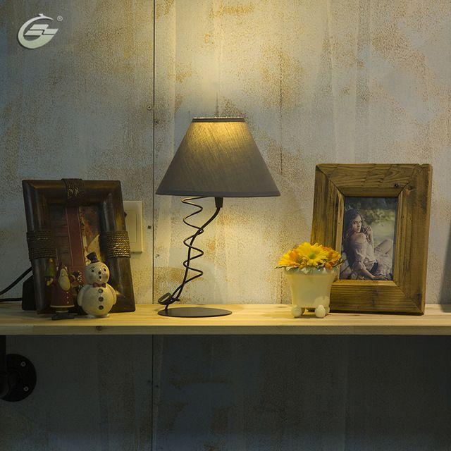 Современные Настольные Лампы Белье Дымоход Украшение Дома для Гостиной Спальня Исследование Бар Светильники Бесплатная Доставка