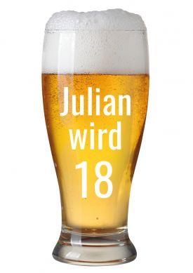 Witzige Bier Einladungskarte Mit Eigenem Namen Zur Party Zum 18. Geburtstag