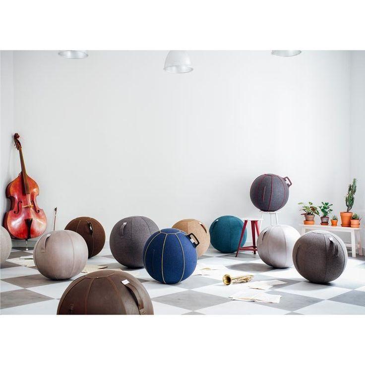 pouf, siège ballon - housse simili cuir - Veel par Vluv - LAPADD.com