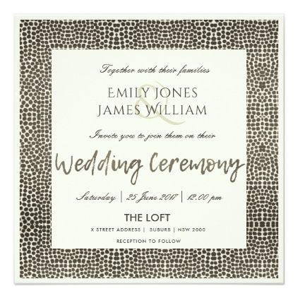 GLAMOROUS COPPER SILVER DOTS MOSAIC WEDDING CARD - wedding invitations diy cyo special idea personalize card