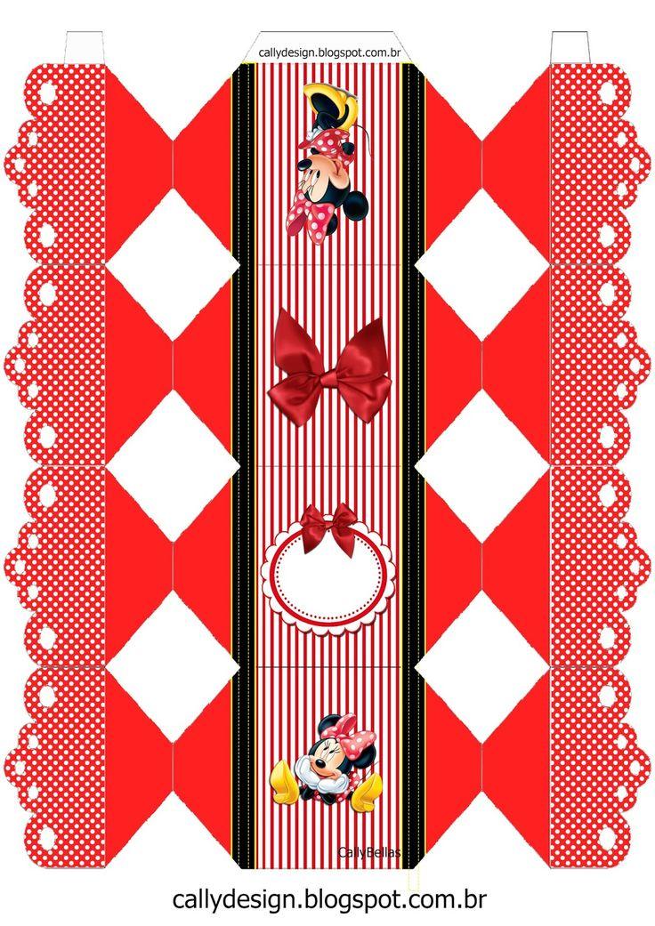 CALLY'S  DESIGN-Kits Personalizados Gratuitos: Kit de Personalizados Tema Minnie Vermelha