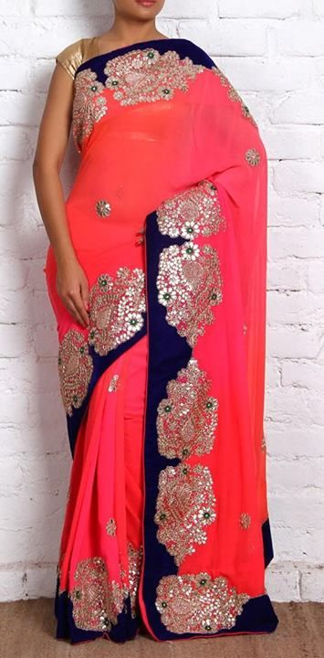 Designer Gota Patti Work Saree 1
