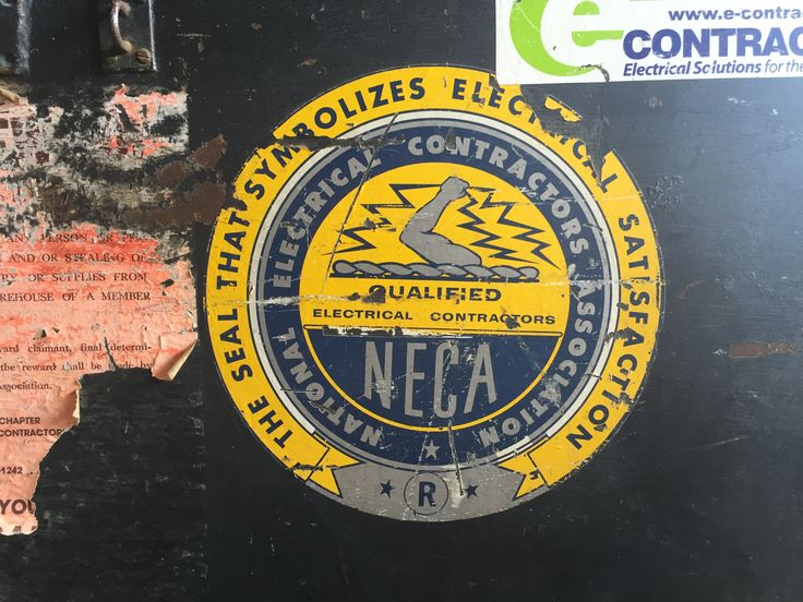 Vintage National Electrical Contractors Association Sticker