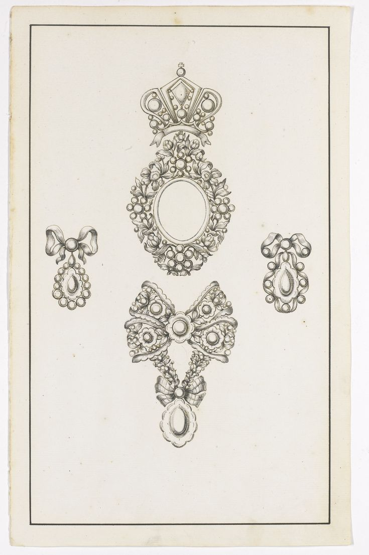 Collection of twenty three jewellery designs on twenty two sheets, second half of the 18th century | Lot | Sotheby's: