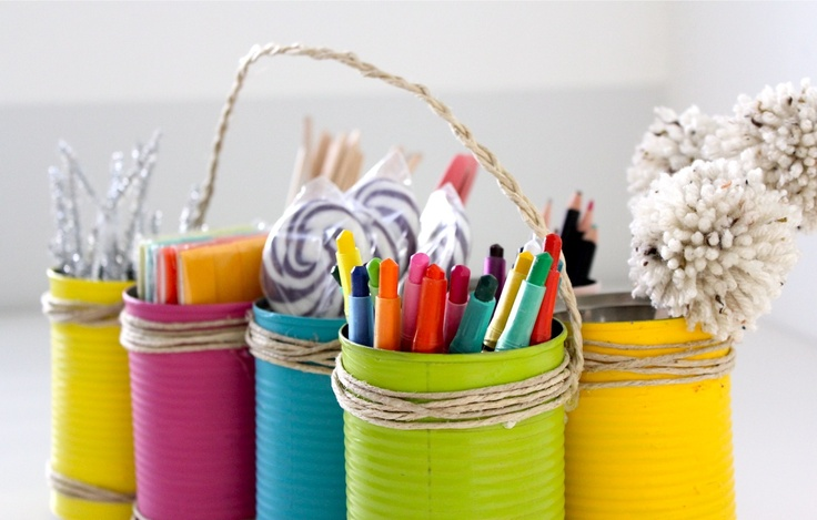 TUTORIAL: Tin Can Caddy for Earth Day and Mother's Day   MADE