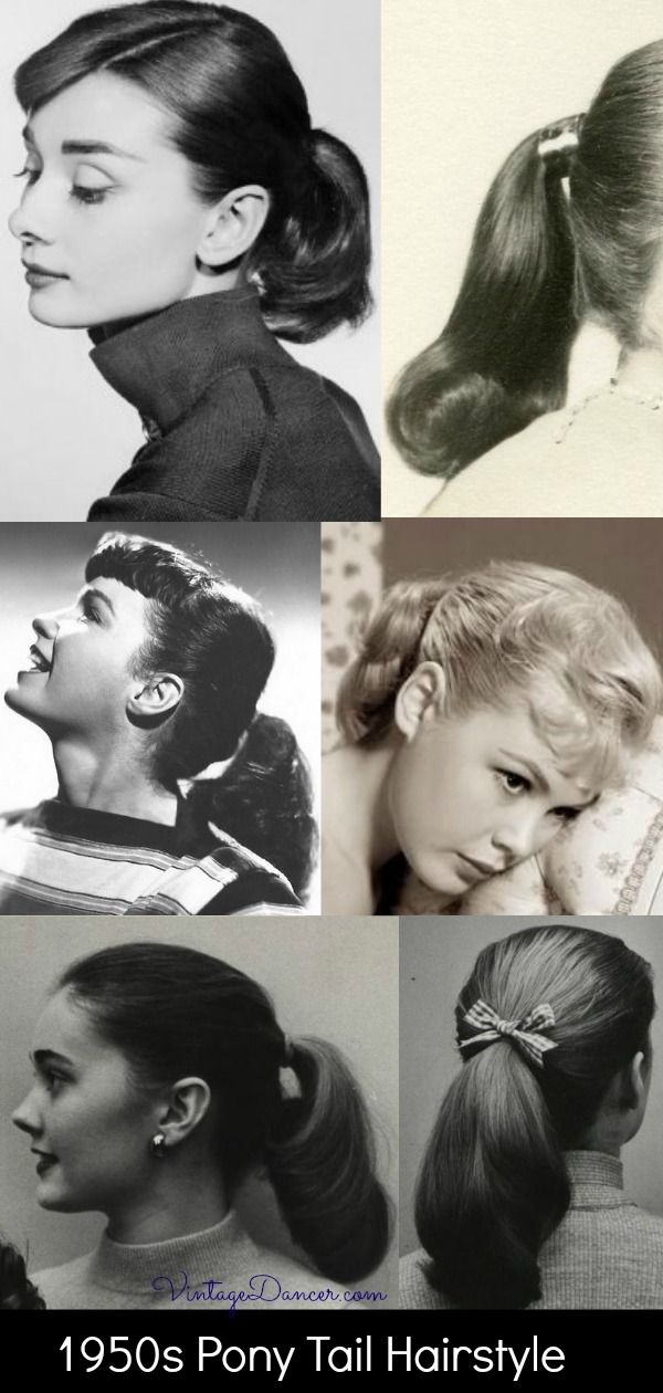 1950s Pony Tail Hairstyle Horse Tail 50s Hair History At Vintagedancer Tail Hairstyle 1950s Hairstyles 1950s Fashion Hair