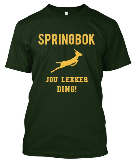 South Africans adore their Springboks. Show your love with this shirt!
