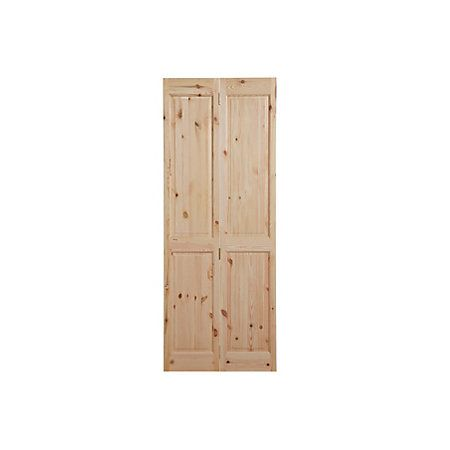 4 Panel Knotty Pine Internal Bi-Fold Door, (H)1981mm (W)686mm | Departments | DIY at B&Q