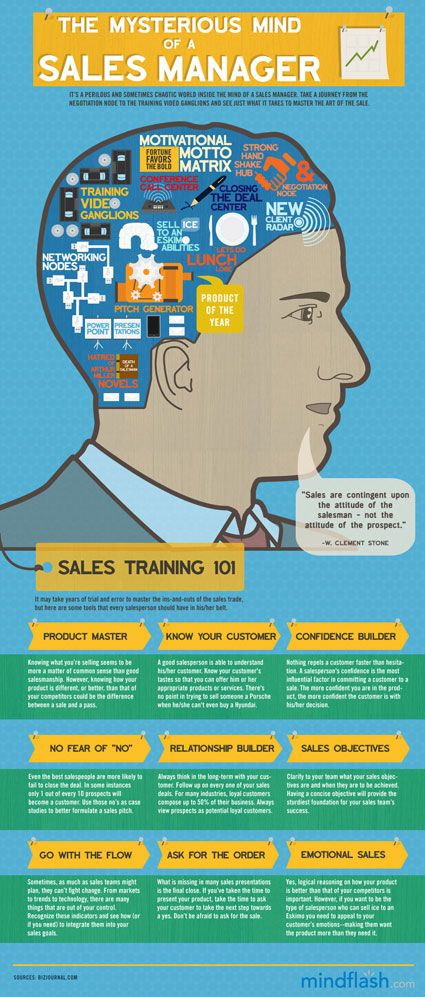 Infographic that looks into the mind of a Sales Manager....