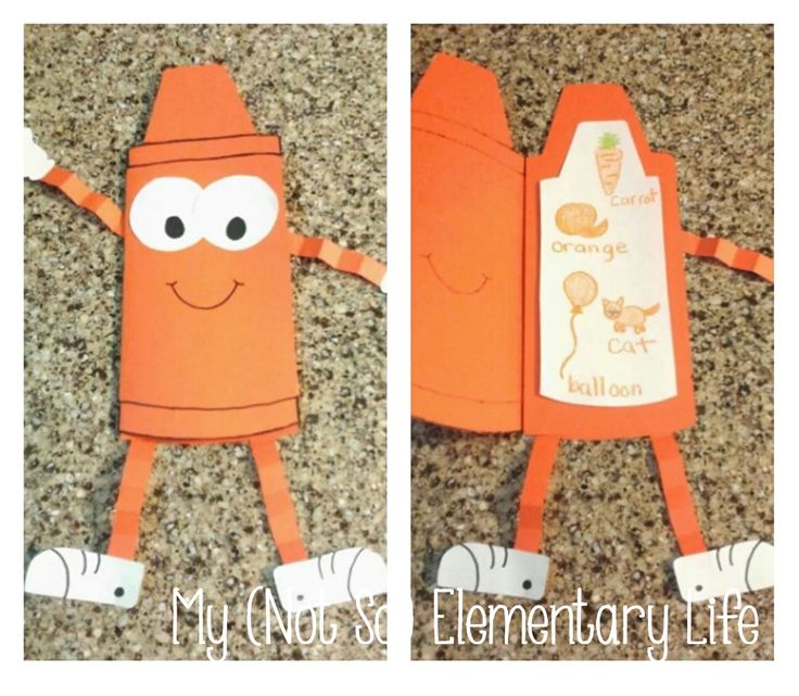 Crayon Color Book Craft... Template included to create this craft with any or every color you learn about with your students