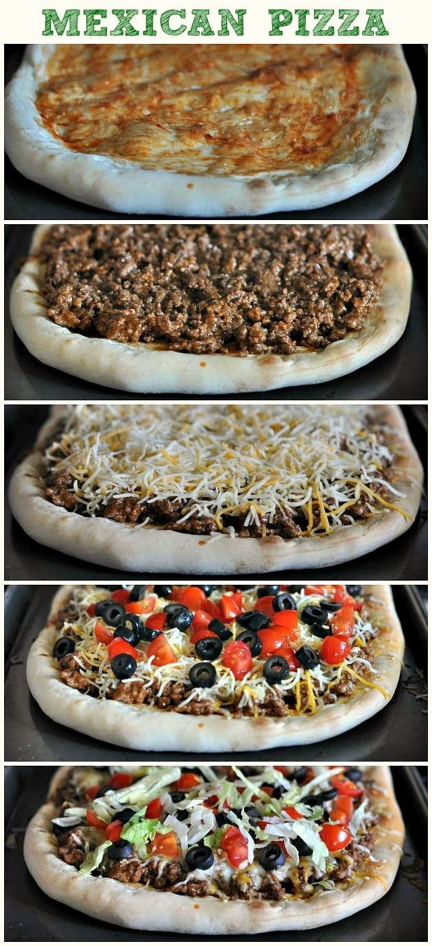 Mexican Pizza~ kids love this!