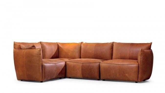 Jess Design Vasa hoekbank cognac