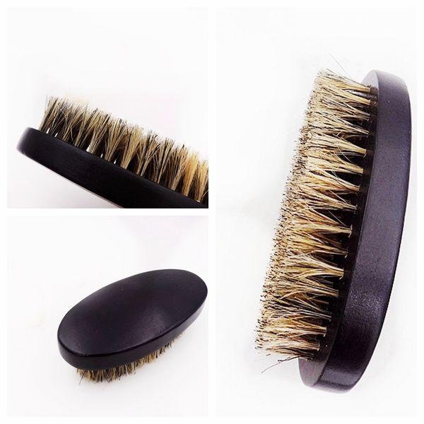 Boar Bristle Hair Brush Beard Shaving Brush Synthetic For Men wooden With Boar Bristles Face Massage Black Shaving Brush