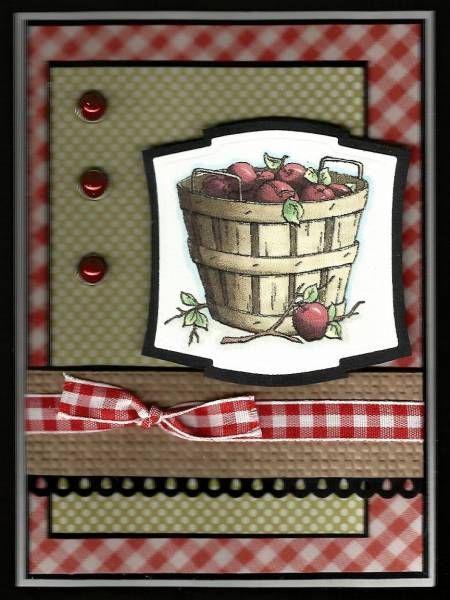 Apple Pickinu0027 By BarbieP   Splitcoaststampers I Have A Similar Apple Basket  Stamp. Find This Pin And More On Apple Themed Kitchen Decor ...