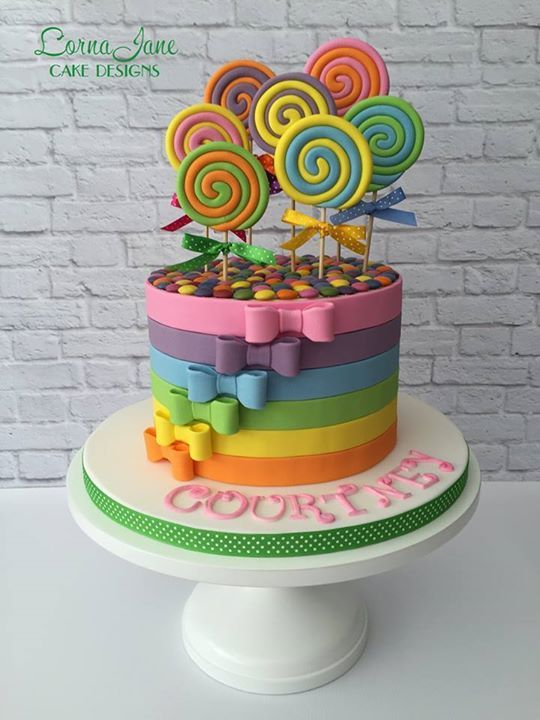 Rainbow Candy Cake - cute!