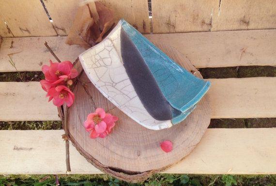 Porta sapone in ceramica raku colore di LaterraCrea su Etsy