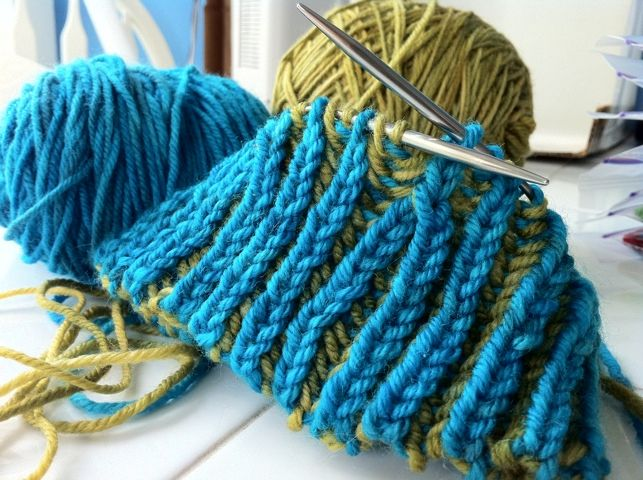 brioche knitting....a little advanced, but I'm willing to try