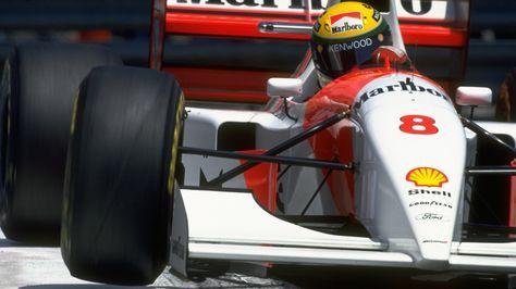 Photo: Pascal Rondeau / Allsport - 29 de maio de 1993: Ayrton Senna em sua McLaren Ford durante o Grande Prêmio de Mônaco, no circuito de Monte Carlo.