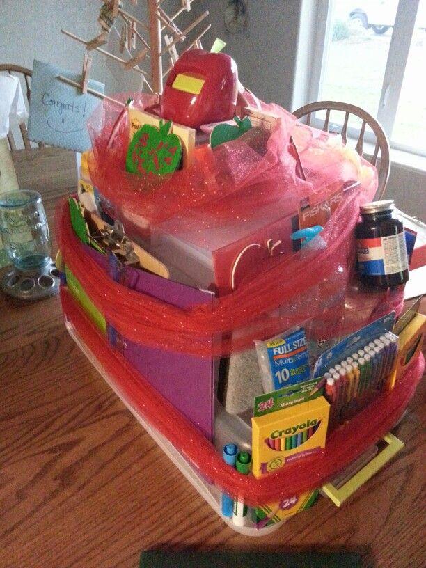 Teacher graduation party school supply cake | misc ...