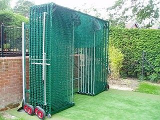 Innovative space saving net that enables cricket to be played safely in the playground at any time, all year round, folds down to 50cm from its fixed position with a permanent anchorage and locking facility to prevent unauthorised use.