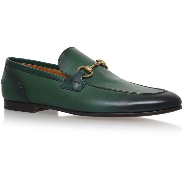 Gucci Jordan Loafers ($660) ❤ liked on Polyvore featuring shoes, loafers, gucci loafers, horsebit loafers, polish shoes, horse bit loafers and gucci footwear