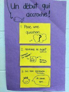 Les tableaux d'ancrage: une aide précieuse! – L'atelier d'écriture au primaire
