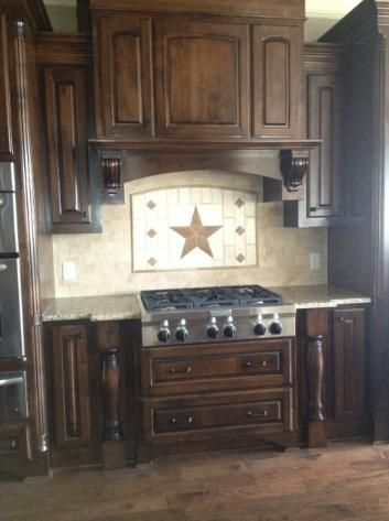 Texas Longhorns & Texas Stars, designs in stone and tile, unique