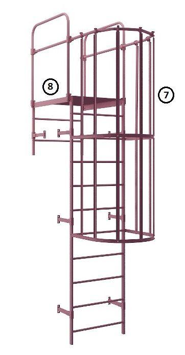 Вертикальные лестницы на кровлю - структура, способы крепления. Актуальная цена на наружные пожарные лестницы, внешний вид,  http://www.profil-stroy.ru/secur_krovli/pozharnye-lestnitsy/