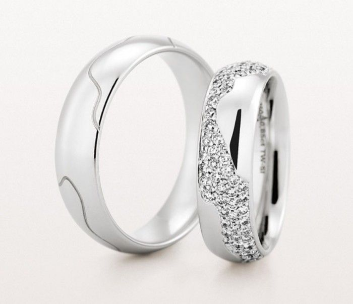 40 unique unusual wedding rings for him her ring weddings and wedding. Black Bedroom Furniture Sets. Home Design Ideas