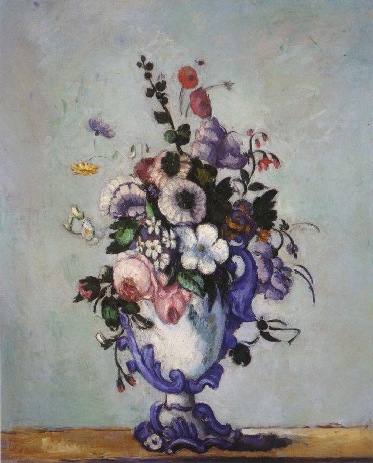 Paul Cézanne - Flowers in a Rococo Vase