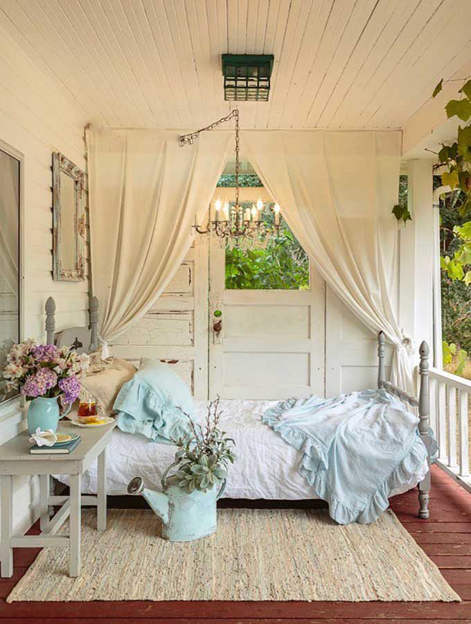 Farmhouse Front Porch Home Decor Styles Shabby Chic Porch