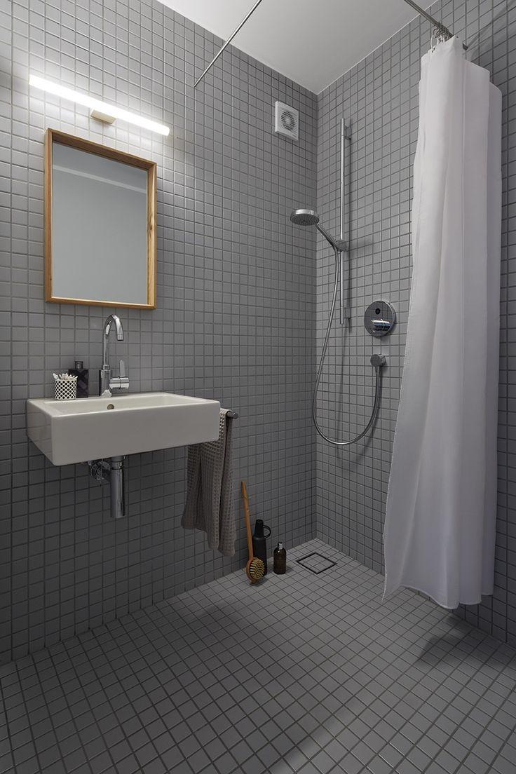 Privathaus Bonn Gstebad Agrob Buchtal Mosaik Serie Plural Lichtgrau 5x5