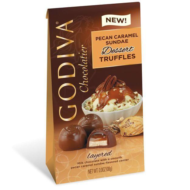Godiva Chocolatier Individually Wrapped Pecan Caramel Sundae Dessert Truffles
