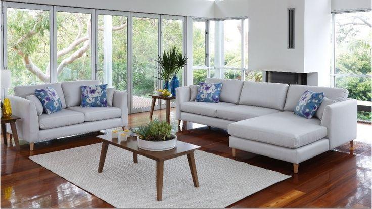 Alto 2 Piece Fabric Lounge Suite - Lounges - Living Room - Furniture, Outdoor & BBQs | Harvey Norman Australia