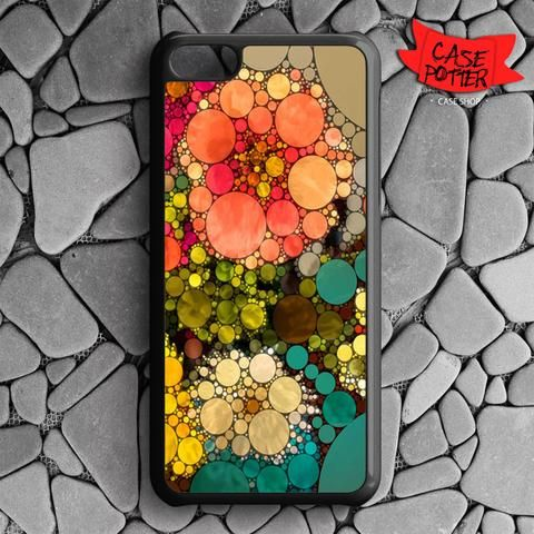 Pattern Round Full Color iPhone 5C Black Case
