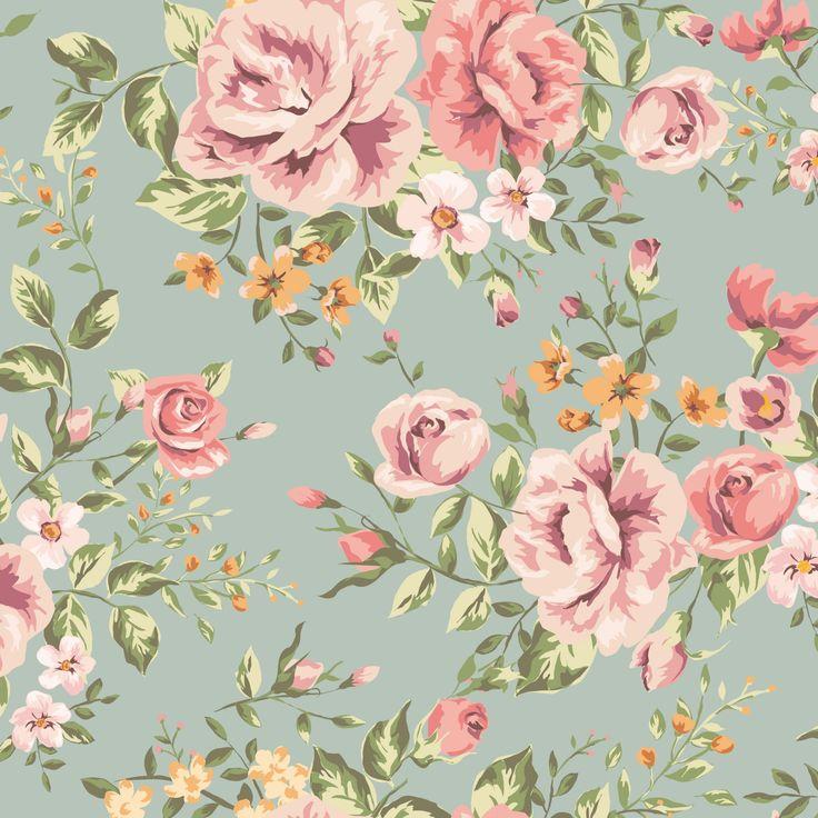 Vintage Iphone Wallpaper: Classic Seamless Vintage Flower Pattern