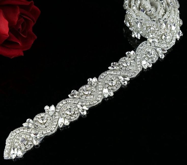 1 Yard Bridal Rhinestone Trim Crystal Rhinestone Applique DIY Bridal Sash Belt | Clothing, Shoes & Accessories, Wedding & Formal Occasion, Bridal Accessories | eBay!