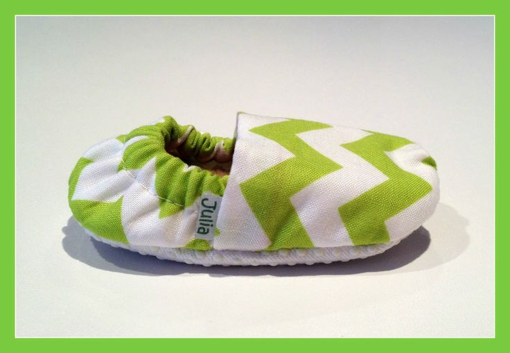 Lime green chevron Baby Booties!  bellababybooties.weebly.com