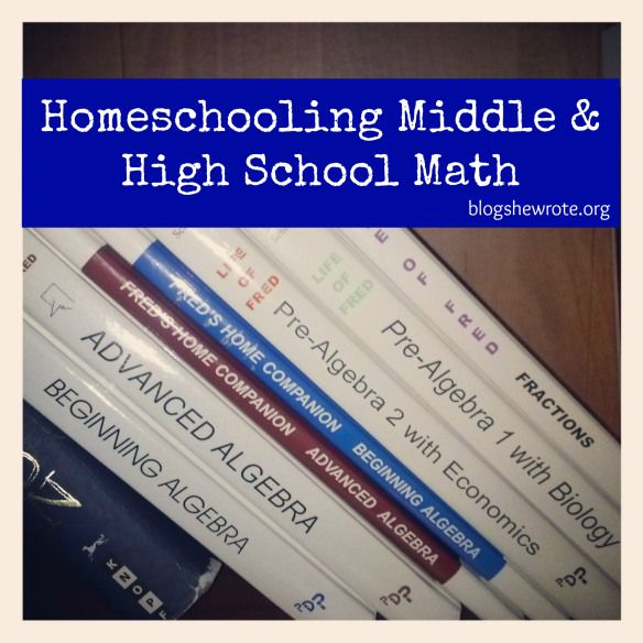 Blog, She Wrote: Homeschooling Middle & High School Math