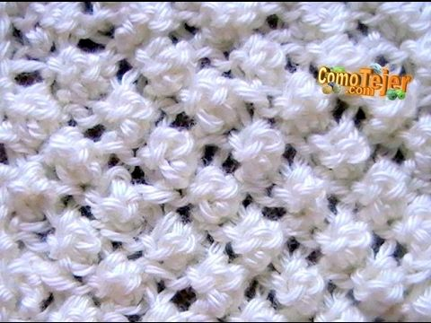 Cómo Tejer PUNTO GARBANZO - Popcorn Stitch 2 Agujas (12) - YouTube