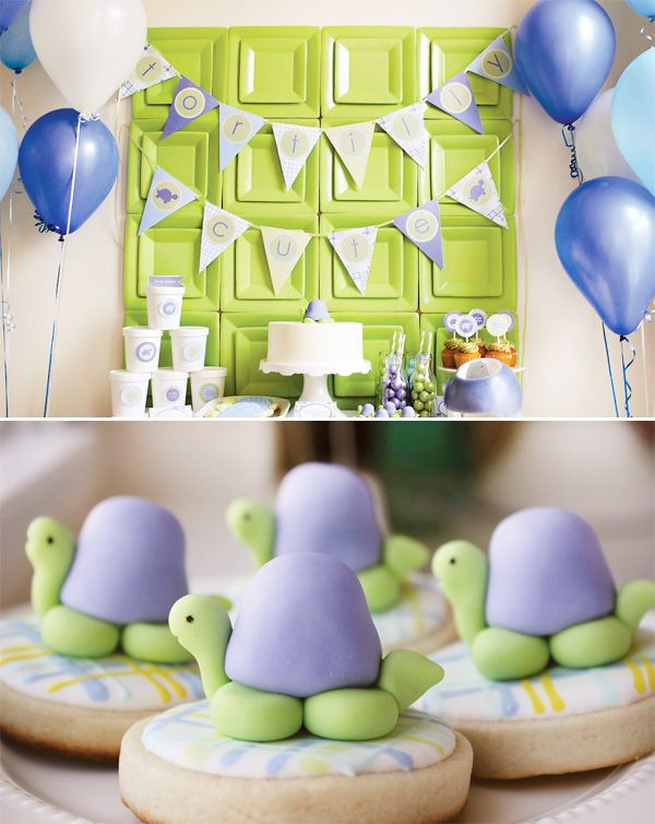 Turtle Party, Turtle Cookies, Kids Parties, Turtles Cookies, Sweets Tables, Birthday Parties Decor, Turtles Parties, Paper Plates, Baby Shower