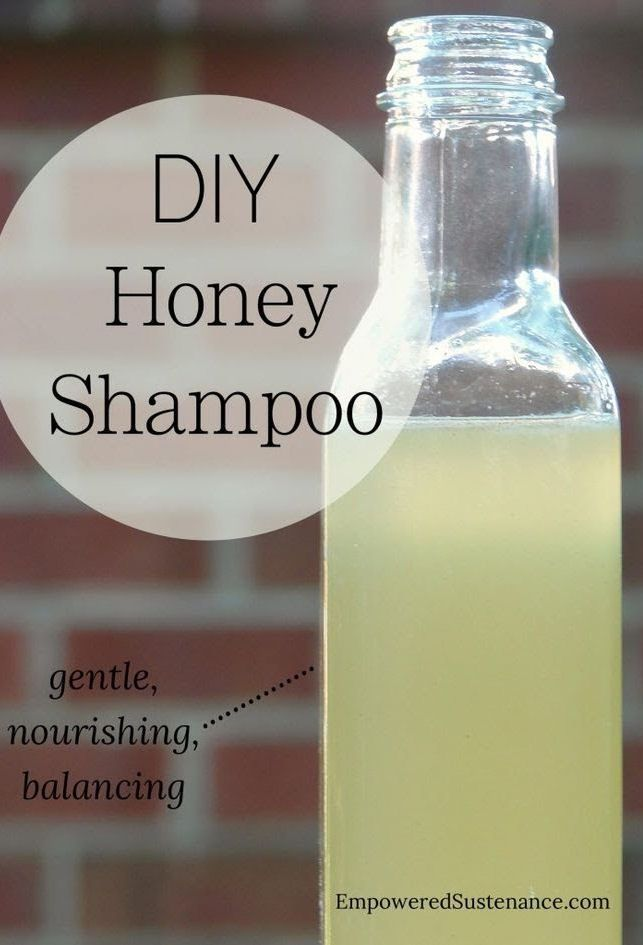 Why wash with honey? It is the perfect pH to balance the scalp. It also has antibacterial and antifungal properties, which can help heal dandruff. Additionally, it cleans hair without stripping the natural oils. That means the oil production of the scalp will normalize and hair will become softer.
