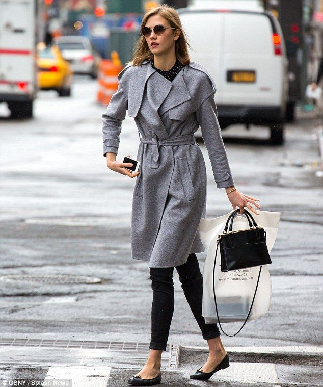 Off-duty beauty: Karlie Kloss proved she can do dressed-down style just as well as catwalk chic as she stepped out in New York City's West V...